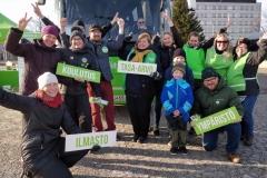 Vihreiden vaalibussi Kajaanissa